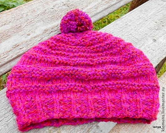 Вязаная шапка Любимая. очень легкая и теплая. tanya Ярмарка мастеров