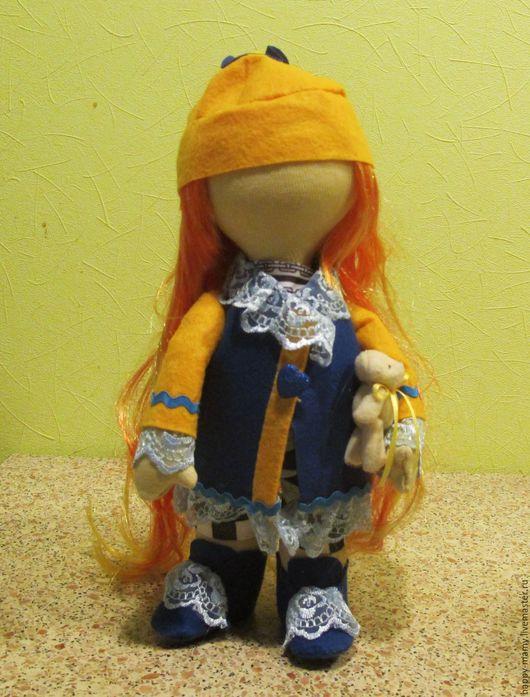 Куклы тыквоголовки ручной работы. Ярмарка Мастеров - ручная работа. Купить Маришка. Handmade. Кукла тыквоголовка, кукла интерьерная, желтый