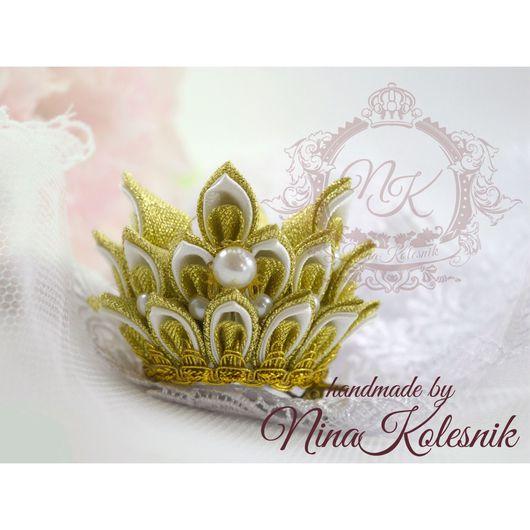 Диадемы, обручи ручной работы. Ярмарка Мастеров - ручная работа. Купить Корона для маленькой принцессы. Корона для фотосесии. Handmade. Корона