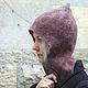 """Шапки ручной работы. Ярмарка Мастеров - ручная работа. Купить Шапка - шлем валяная """"Дитя земли"""". Handmade. Шапка"""