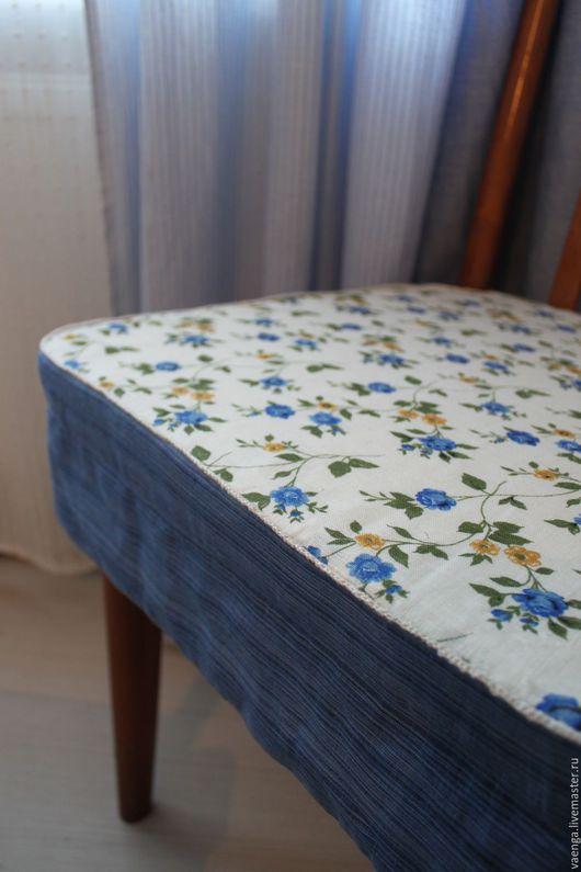 """Кухня ручной работы. Ярмарка Мастеров - ручная работа. Купить Подушка на стул """" Голубые розы"""". Handmade. Синий"""