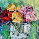 Картины цветов ручной работы. Заказать На весу. K&ART. Ярмарка Мастеров. Красный желтый, картина в подарок, спальня