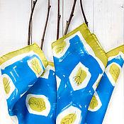 Аксессуары ручной работы. Ярмарка Мастеров - ручная работа Март - шелковый платок с ручной росписью. Handmade.