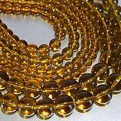 Beads1 handmade. Livemaster - original item Quartz smooth ball, Cognac color. Handmade.