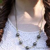 Украшения handmade. Livemaster - original item Pyrite beads. Handmade.