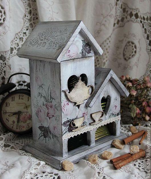 Кухня ручной работы. Ярмарка Мастеров - ручная работа. Купить Чайный домик Нежные розы. Handmade. Чайный домик, декор