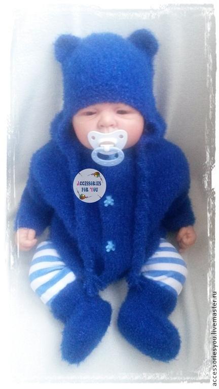 """Одежда ручной работы. Ярмарка Мастеров - ручная работа. Купить Комплект """" Вlue bear """". Handmade. Синий, на выписку"""