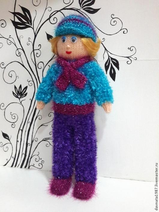 Человечки ручной работы. Ярмарка Мастеров - ручная работа. Купить Вязаная кукла 3. Handmade. Синий, вязаная игрушка