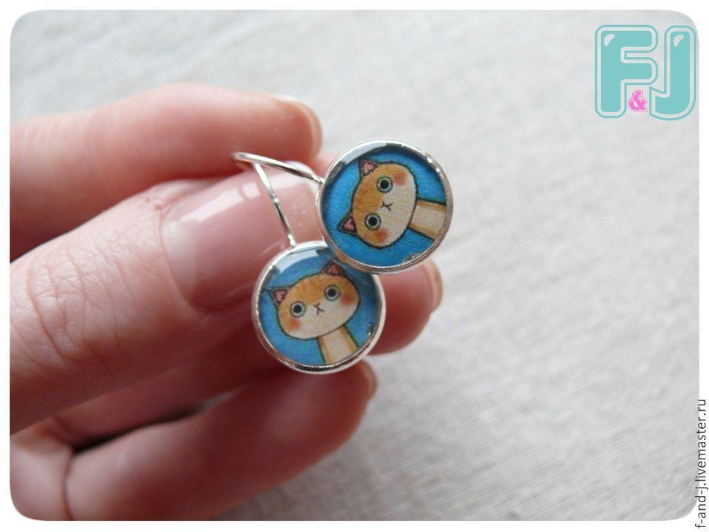 Earrings 'Seals', Earrings, St. Petersburg,  Фото №1