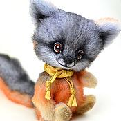 Куклы и игрушки ручной работы. Ярмарка Мастеров - ручная работа Серый лисенок Терри 16 см. Handmade.