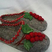 """Обувь ручной работы. Ярмарка Мастеров - ручная работа валяная домашная обувь """" Воспоминание о лете"""". Handmade."""