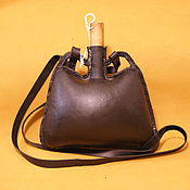 Субкультуры handmade. Livemaster - original item Flask leather. Handmade.