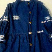 Одежда handmade. Livemaster - original item Jacket pants linen Indigo. Handmade.