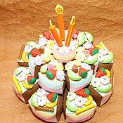 Куклы и игрушки handmade. Livemaster - original item Cake from felt. Handmade.