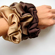 Украшения handmade. Livemaster - original item Set of 3 elastic bands made of 100% silk with manual dyeing. Handmade.