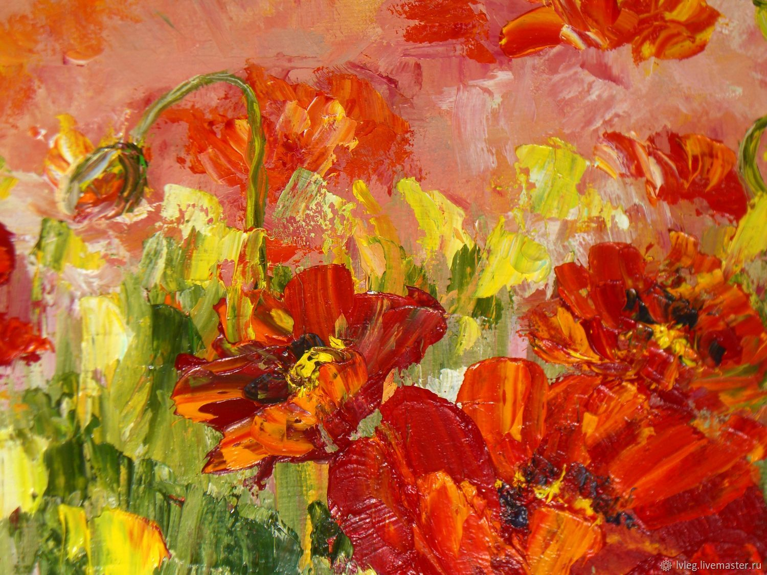 Oil Painting Poppy Field Canvas Poppies Flowers Shop Online On