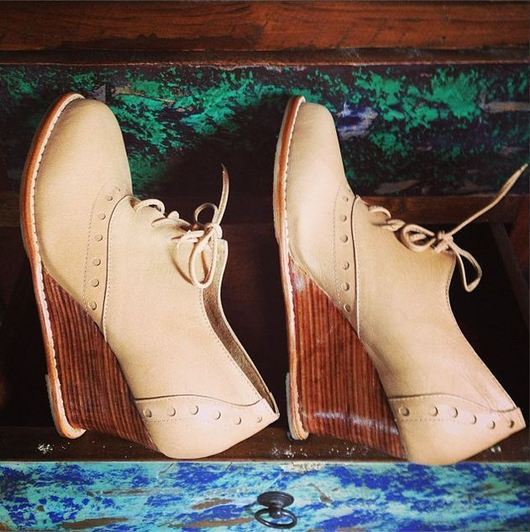 Обувь ручной работы. Ярмарка Мастеров - ручная работа. Купить Daydream. Туфли на платформе, женские, из натуральной кожи.. Handmade. Бежевый