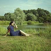 """Одежда ручной работы. Ярмарка Мастеров - ручная работа Платье базовое с двухслойной юбкой """"Ирис"""". Handmade."""