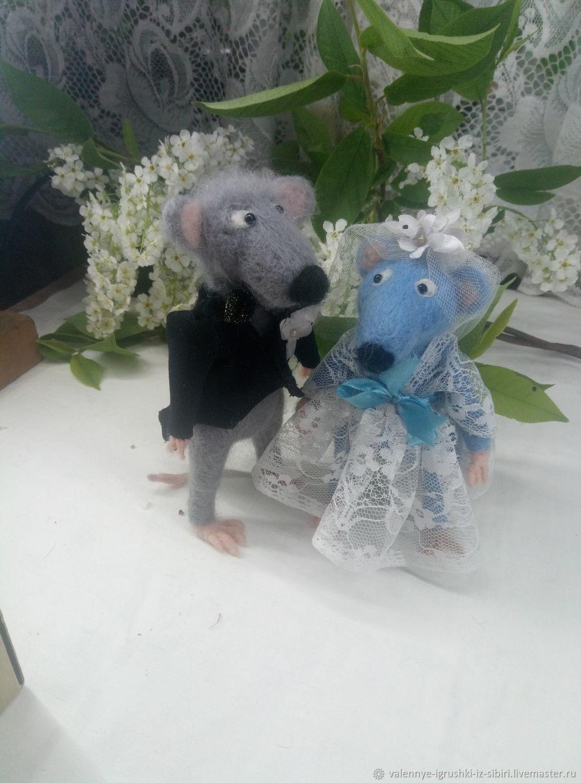 свадьба крысок 2 фигурки, Войлочная игрушка, Кемерово,  Фото №1