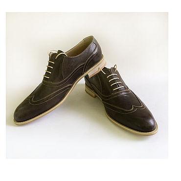 Обувь ручной работы. Ярмарка Мастеров - ручная работа Броги Мужские. Handmade.