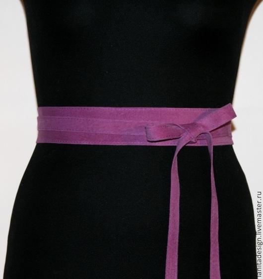 Пояса, ремни ручной работы. Пояс-кушак из замши `Purple 4`. Lanita Design. Ярмарка Мастеров.