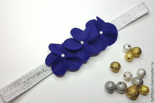 """Повязки ручной работы. Ярмарка Мастеров - ручная работа. Купить Повязка на голову из фетра """"Ночка """" для девочки. Handmade."""