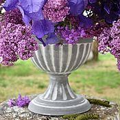 Дача и сад handmade. Livemaster - original item Antique vase made of concrete, terracotta, pot-glass pot garden. Handmade.