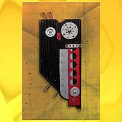 Картины и панно ручной работы. Ярмарка Мастеров - ручная работа чёрная сова. Handmade.