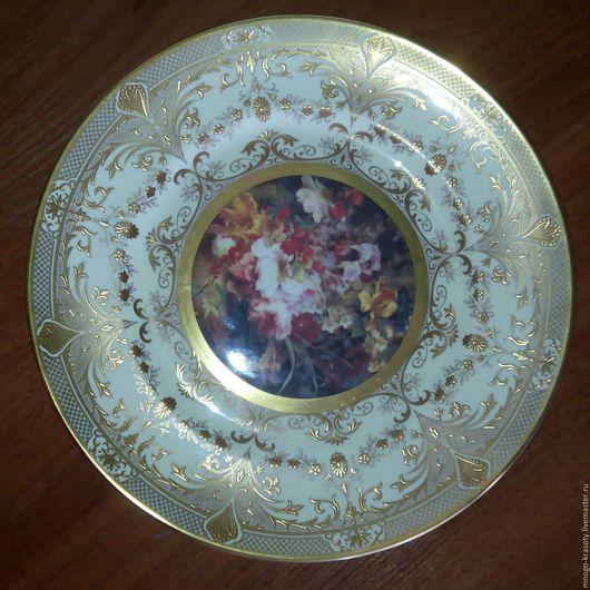 Винтажная посуда. Ярмарка Мастеров - ручная работа. Купить Блюдо 1977 Cawerswall Англия. Handmade. Золотой, тарелка, винтаж, фарфор