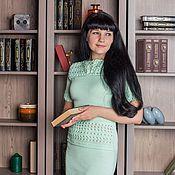Одежда ручной работы. Ярмарка Мастеров - ручная работа Вязанное платье ручной работы. Handmade.