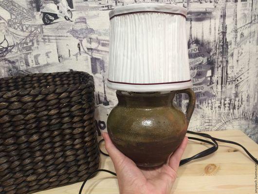 """Освещение ручной работы. Ярмарка Мастеров - ручная работа. Купить настольная лампа """"горшочек"""". Handmade. Комбинированный, ваза, ночное освещение"""