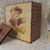 Банки ручной работы. Ярмарка Мастеров - ручная работа новогодний мишка. Handmade.