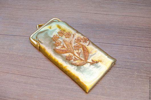 Винтажные сумки и кошельки. Ярмарка Мастеров - ручная работа. Купить Чехол для очков Индия с вышивкой золотой (винтажный очечник, очешник). Handmade.