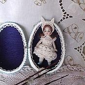 Подарки к праздникам ручной работы. Ярмарка Мастеров - ручная работа Миниатюрная  зайка в яйце .. Handmade.
