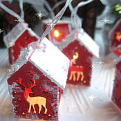 Сувениры и подарки handmade. Livemaster - original item LED garland fairy houses