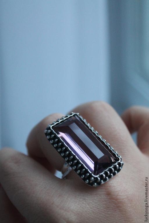 """Кольца ручной работы. Ярмарка Мастеров - ручная работа. Купить кольцо  с аметистом""""Кардинал"""". Handmade. Сиреневый, украшения ручной работы"""