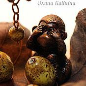 Фен-шуй и эзотерика ручной работы. Ярмарка Мастеров - ручная работа Три обезьяны - интерьерный объект. Handmade.