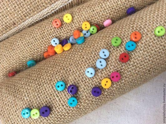 Шитье ручной работы. Ярмарка Мастеров - ручная работа. Купить Пуговицы пластиковые маленькие. Handmade. Пуговицы, пуговицы для шитья, мини