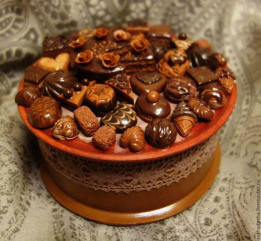 Шкатулка `Темный Шоколад`