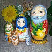 Русский стиль handmade. Livemaster - original item Nesting doll tale Turnip 5 seats. Handmade.
