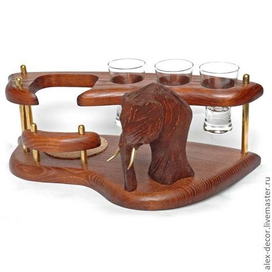 Подарки для мужчин, ручной работы. Ярмарка Мастеров - ручная работа. Купить Мини-бар водочный Mammoth. Handmade. Коричневый