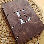 Блокноты ручной работы. Ярмарка Мастеров - ручная работа Эко блокнот деревянный. Handmade.