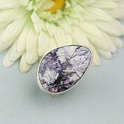 handmade. Livemaster - original item ring with lepidolite. Silver.. Handmade.