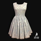 Одежда ручной работы. Ярмарка Мастеров - ручная работа Нарядное платье из жаккарда. Handmade.