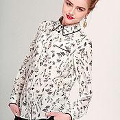 Одежда ручной работы. Ярмарка Мастеров - ручная работа Шелковая блузка - березка. Handmade.