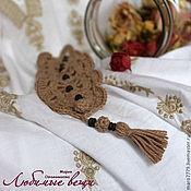"""Украшения ручной работы. Ярмарка Мастеров - ручная работа Браслет вязаный """"Любимый бохо"""", лён, вязаный браслет, украшение. Handmade."""