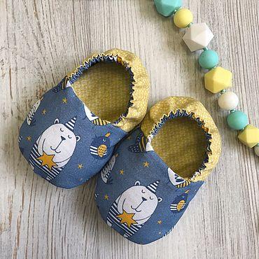 Товары для малышей ручной работы. Ярмарка Мастеров - ручная работа Моксы для малышей Little-Kiddy Мишка звездочет. Handmade.