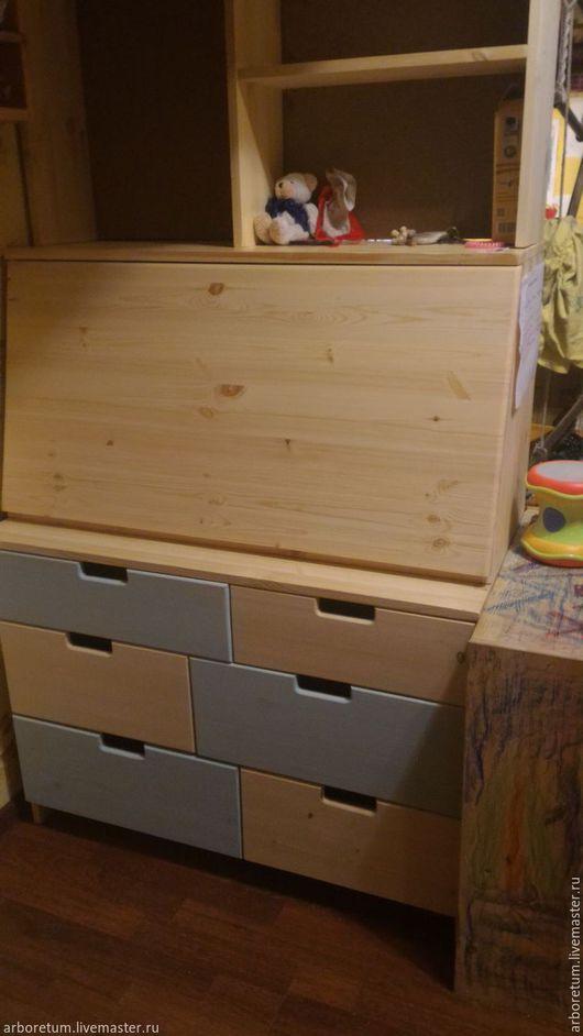 Детская ручной работы. Ярмарка Мастеров - ручная работа. Купить Секретер письменный стол. Handmade. Комбинированный, вальдорф