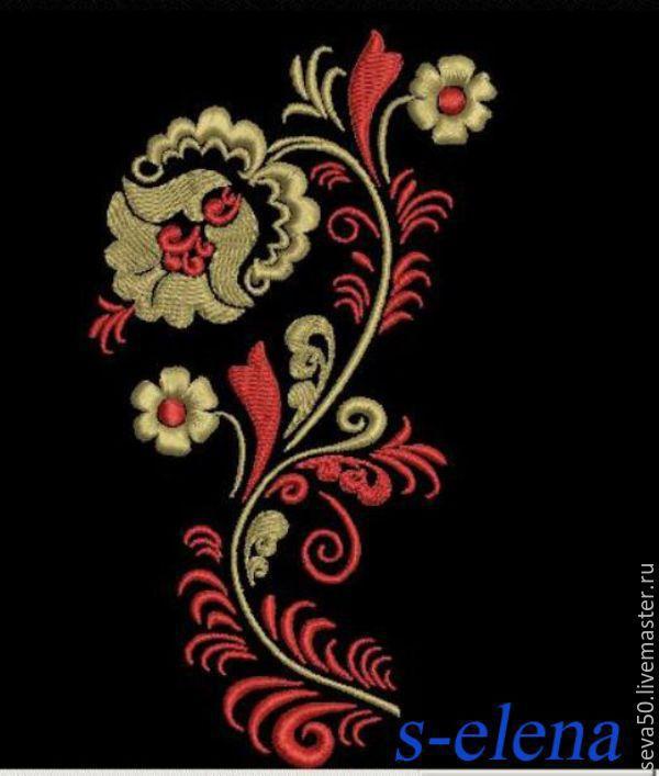 Дизайны орнаментов для машинной вышивки