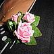 """Броши ручной работы. Заказать Мини-брошь """"Букетик любимых роз"""". Натали. Ярмарка Мастеров. Подарок девушке"""